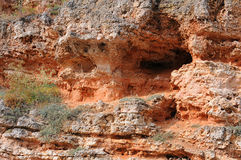 El primer excavó la roca Imagen de archivo libre de regalías