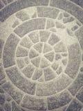 El primer hermoso texturiza la piedra de la pared y el fondo abstractos del suelo de baldosas fotografía de archivo libre de regalías