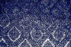 El primer hermoso texturiza las tejas abstractas y colorear el fondo de cristal de la pared del modelo y el wallpape azules del o imágenes de archivo libres de regalías