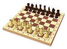 El primer movimiento del juego de ajedrez Imagenes de archivo