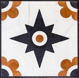 El primer tiró del mármol anaranjado y negro tradicional del modelo del otomano Foto de archivo libre de regalías