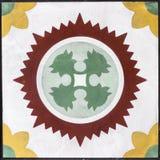 El primer tiró del mármol rojo del modelo del otomano tradicional Imagen de archivo