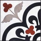 El primer tiró del mármol rojo y negro tradicional del modelo del otomano Imágenes de archivo libres de regalías