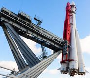 El primer vehículo espacial ruso - Vostok moscú Imágenes de archivo libres de regalías