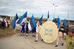 El principio de la procesión del festival de la canción Fotos de archivo libres de regalías