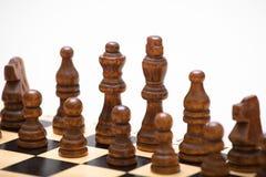 El principio de un juego de ajedrez Fotos de archivo libres de regalías