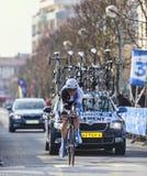 El prólogo clemente 2013 de Stef- París del ciclista Niza en Houilles Imagen de archivo libre de regalías