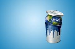 El problema de la contaminación del suelo Imagen de archivo