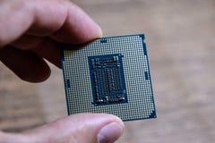 El procesador es un equipo de escritorio a disposición Examine los contactos de la CPU antes de instalar imagen de archivo libre de regalías