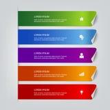 El proceso camina plantilla de la maqueta del infographics del vector de las etiquetas libre illustration