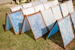 El proceso de fabricación hizo el papel de la mora. Fotos de archivo libres de regalías