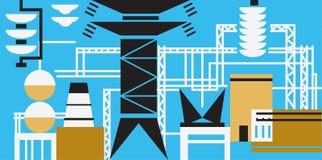 El proceso de producción en la central eléctrica Fotografía de archivo