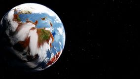 El proceso de transformar la atmósfera marciana stock de ilustración