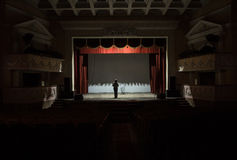 El profesor del ballet fotografía de archivo