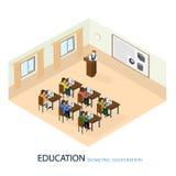 El profesor dio una conferencia en el tema libre illustration