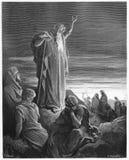 El profeta Ezekiel fotos de archivo
