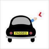 El programa piloto del principiante del coche pasó la prueba Foto de archivo libre de regalías