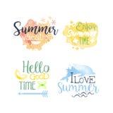 El promo de las vacaciones de verano firma el sistema colorido Fotos de archivo libres de regalías