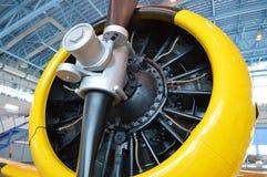 El propulsor del avión imagen de archivo libre de regalías