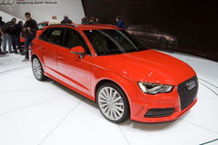 Estreno mundial de A3 Sportback E-Tron - salón del automóvil 2013 de Ginebra Fotos de archivo libres de regalías