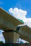 El proyecto de la Línea Verde de MRTA, sección del transporte-Samuthpraka n imagen de archivo