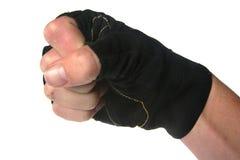 El puño con el guante aisló Imagen de archivo