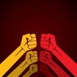 El puño de la mano o alista para luchar Imagen de archivo libre de regalías