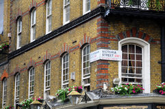El Pub de Albert en Londres - detalle foto de archivo libre de regalías