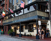 El Pub de Kevin Barry, sabana, GA fotos de archivo libres de regalías