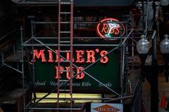 El pub de Miller en Chicago foto de archivo