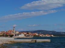 El pueblo croata Betina en la isla Murter Fotografía de archivo