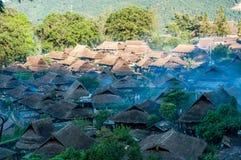 El pueblo de la gente de Wa Imagenes de archivo