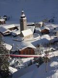 El pueblo de montaña del voralberg del arlberg del lech Fotos de archivo libres de regalías