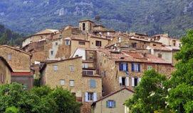 El pueblo de montaña francés pintoresco de Seillans Imagenes de archivo