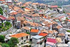 El pueblo de Staiti en la provincia de Regio Calabria, Italia Fotos de archivo