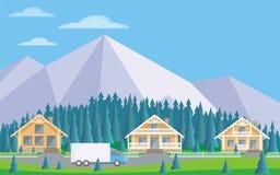 el pueblo del bosque libre illustration