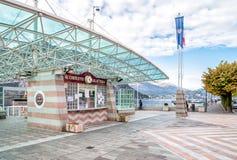 El pueblo del d'Italia de Campione en el lago Lugano Fotografía de archivo libre de regalías