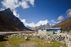El pueblo del Nepali de Pheriche Fotografía de archivo libre de regalías