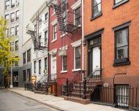 El pueblo del oeste NYC se dirige Imágenes de archivo libres de regalías
