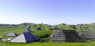 El pueblo del pastor en Eslovenia Imagen de archivo libre de regalías
