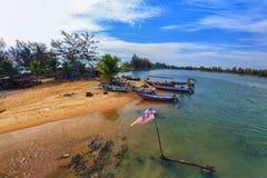 El pueblo del pescador Imágenes de archivo libres de regalías