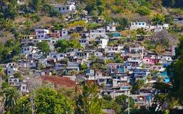 El pueblo donde maya usado para vivir en una ladera Fotografía de archivo libre de regalías