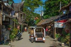 El pueblo en la isla de Boracay, Filipinas Fotos de archivo
