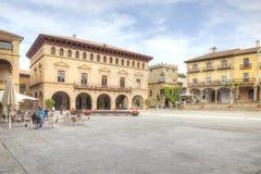 El pueblo español Poble Espanyol está en Barcelona Imágenes de archivo libres de regalías