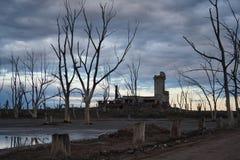 El pueblo fantasma de Epecuen arruina paisaje Fotos de archivo