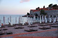 El pueblo fortificado Stefan de Sveti en Montenegro Fotografía de archivo libre de regalías