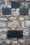 El pueblo fortificado Stefan de Sveti en Montenegro Foto de archivo