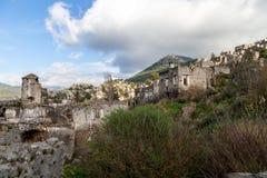 El pueblo griego abandonado de Kayakoy, Fethiye, Turqu?a fotografía de archivo