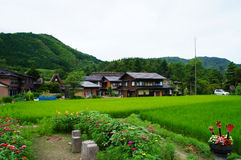 El pueblo histórico de Shirakawa-va, prefectura de Gifu Fotografía de archivo libre de regalías