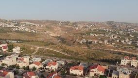 El pueblo judío de Tekoa Israel, situado en la frontera con el territorio de la autoridad palestina en Judea y el sur almacen de metraje de vídeo